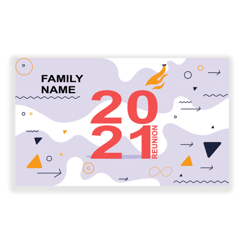 Family Reunion 5x3 Banner Abstract Retro