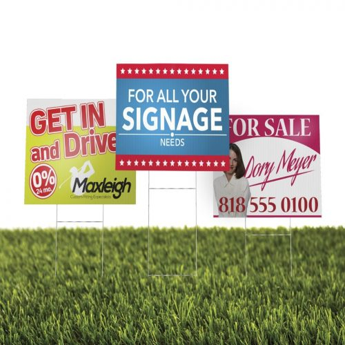 Plastic Yard Signs