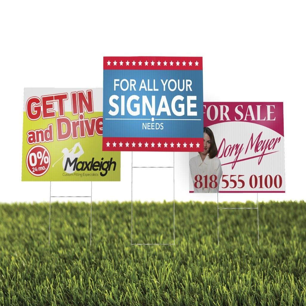 Plastic Yard Signs