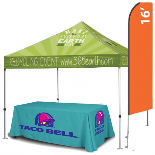 Outdoor Silver Trade Show Package
