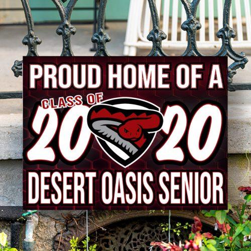 Desert Oasis Yard Sign