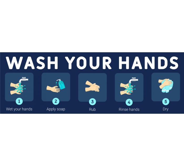 Wash your hands banner