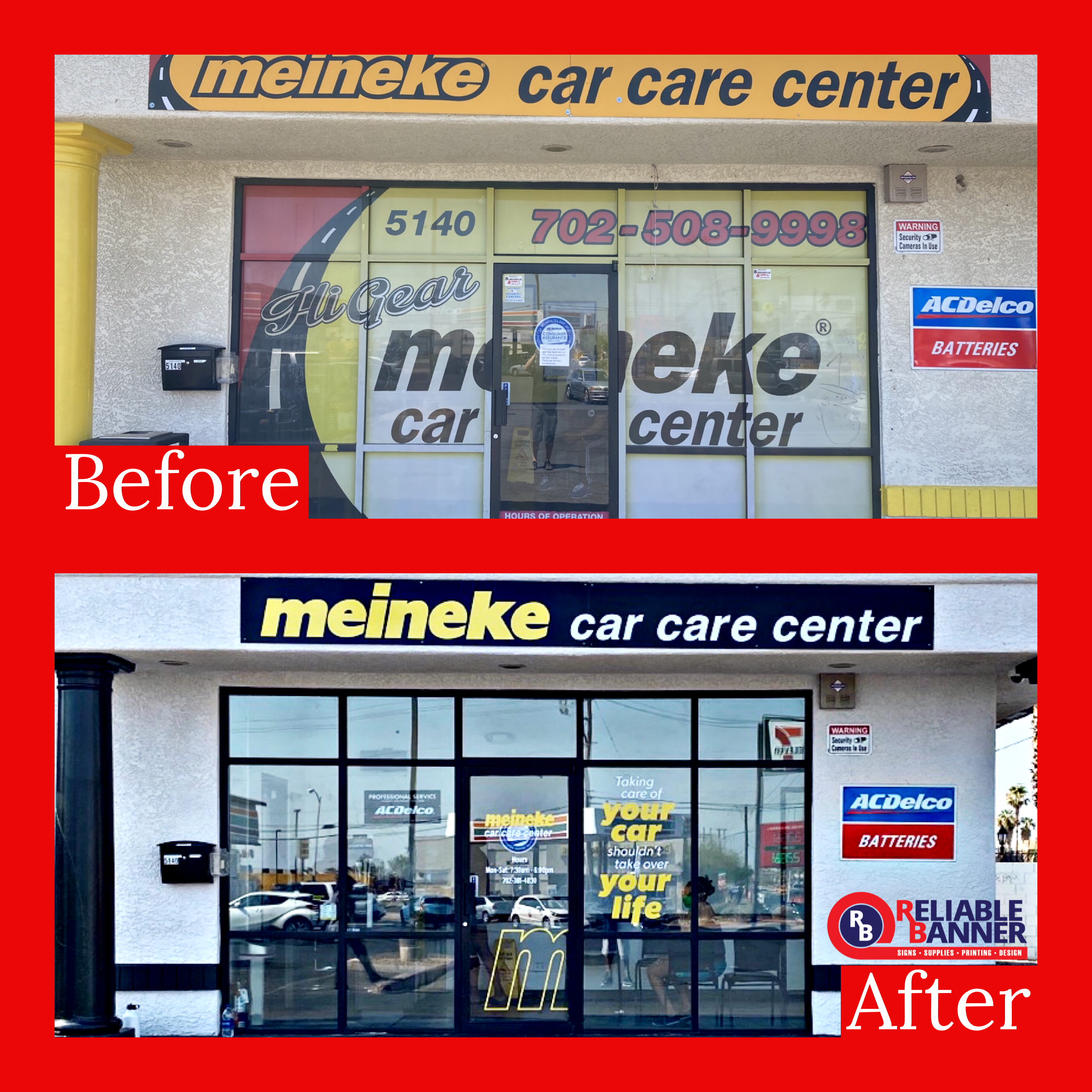 Window Decals Before and After