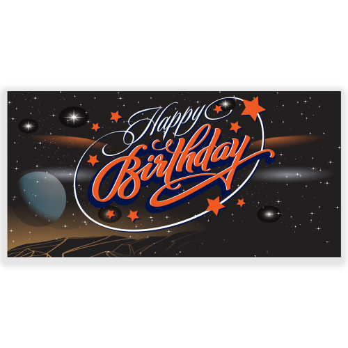 Happy Birthday Banner Abstract