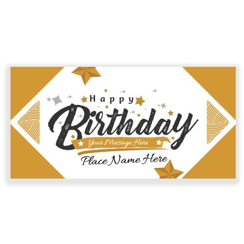 Happy Birthday Banner Gold