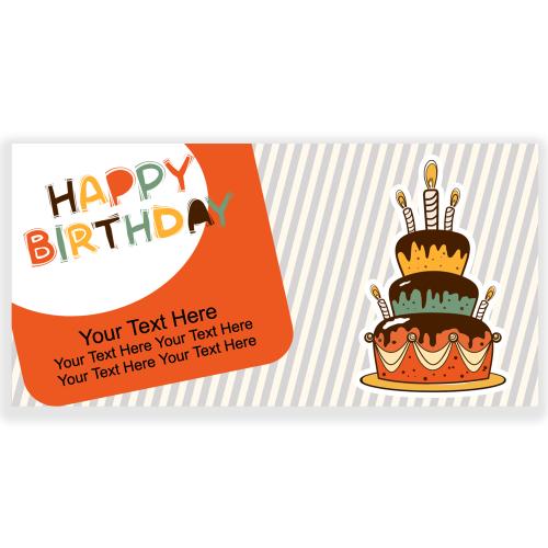 Happy Birthday Banner Orange