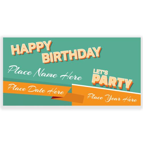 Happy Birthday Banner Retro