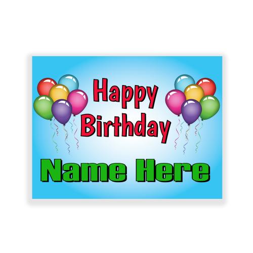 Happy Birthday Yard Sign Balloons