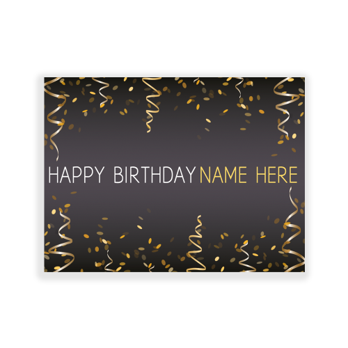 Happy Birthday Yard Sign Gold