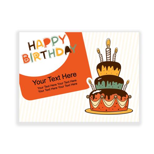 Happy Birthday Yard Sign Orange