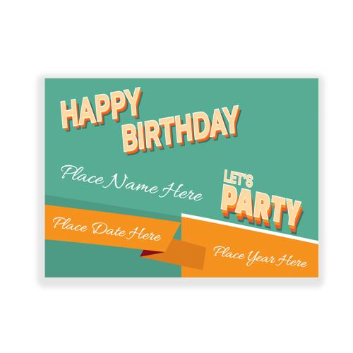 Retro Happy Birthday Yard Sign