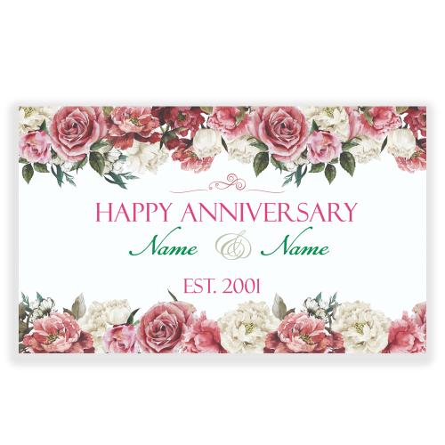 Anniversary 5x3 Banner Flowers