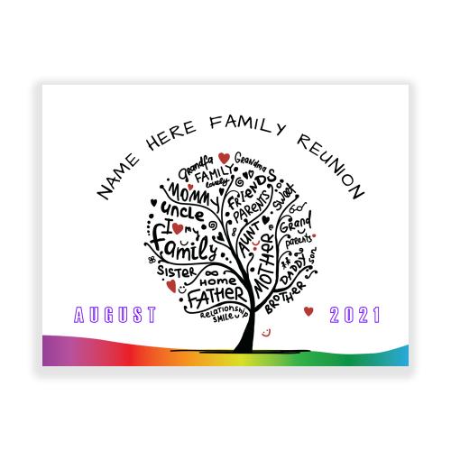 Family Reunion Yard Sign Family Tree