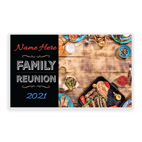 Family Reunion 5x3 Banner BBQ