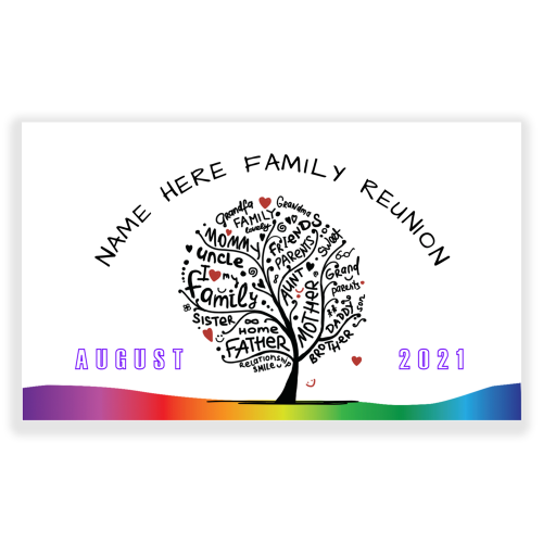 Family Reunion 5x3 Banner Family Tree