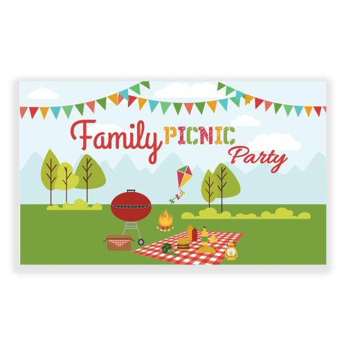 Family Reunion 5x3 banner Picnic