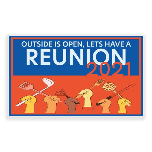 Family Reunion Banner 5x3 Outside Open