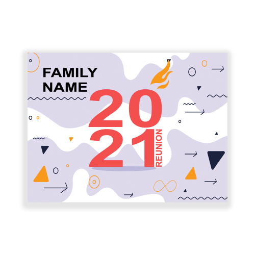 Family Reunion Yard Sign Abstract Retro