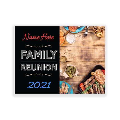 Family Reunion Yard Sign BBQ
