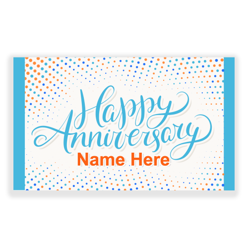 Happy Anniversary 5x3 Banner Dots