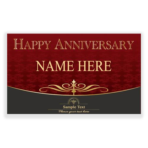 Happy Anniversary 5x3 Banner Red