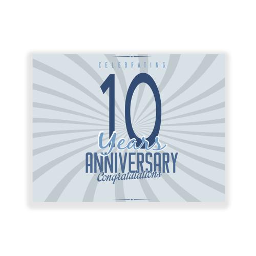 Happy Anniversary 5x3 Yard Sign Silver Swirl