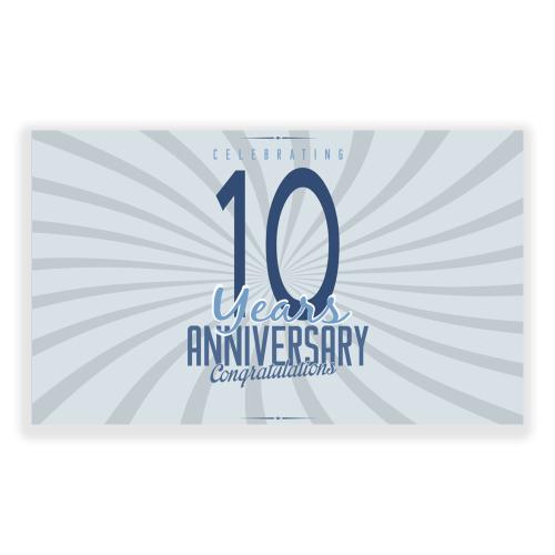 Happy Anniversary 5x3 banner Silver Swirl