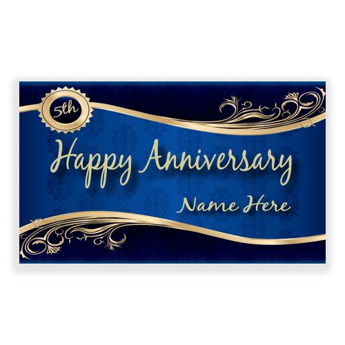 Happy Anniversary Banner Vintage