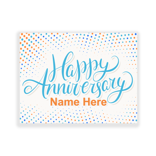 Happy Anniversary Yard Sign Dots
