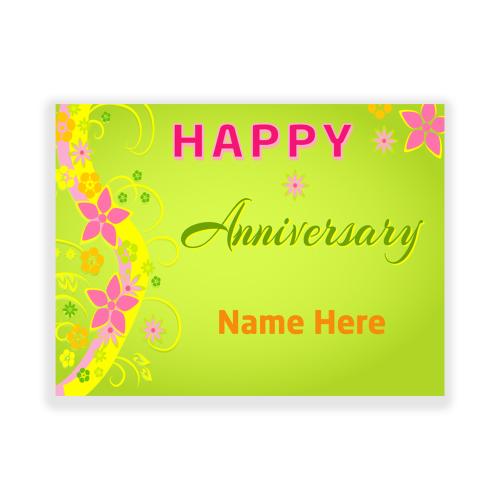 Happy Anniversary Yard Sign Flowers
