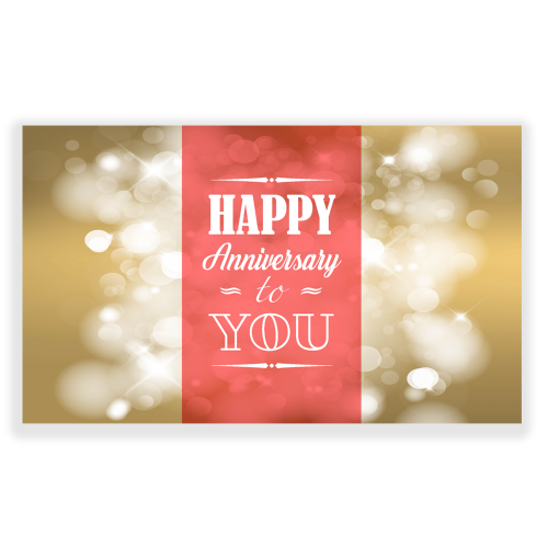 Happy Anniversary Yard Sign Golden Lights Copy
