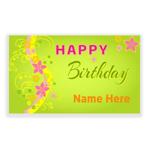 Happy Birthday 5x3 Banner Flowers