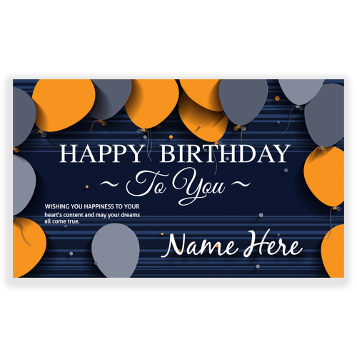 Happy Birthday 5x3 Banner Wishing You Happiness