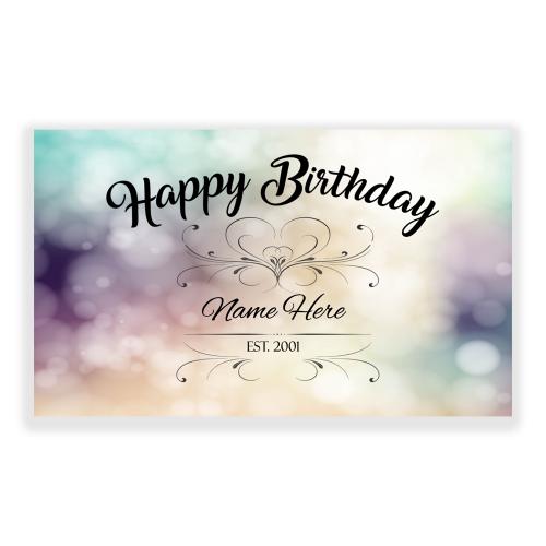 Happy Birthday 5x3 Banner sparkle