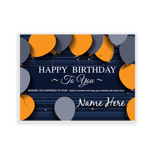 Happy Birthday Yard Sign Wishing You Happiness
