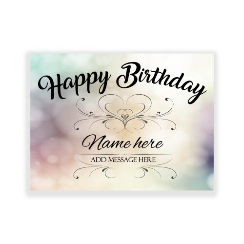 Happy Birthday Yard Sign Sparkle