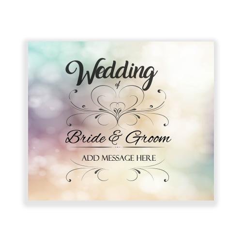 Happy Wedding Yard Sign Sparkle