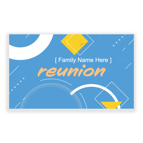 Reunions 5x3 Banner Blue Retro