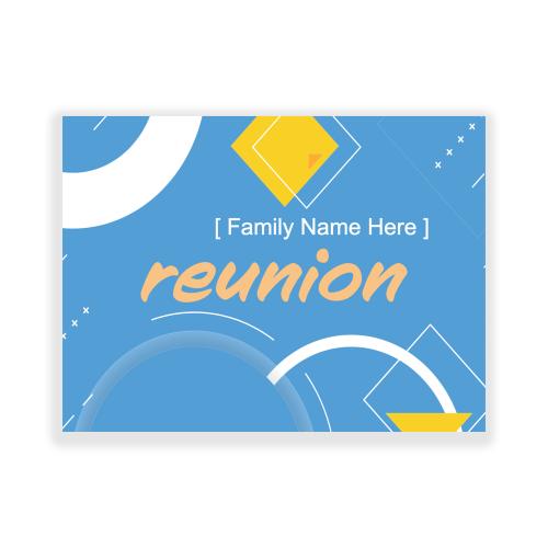Reunions 5x3 Yard Sign Blue Retro